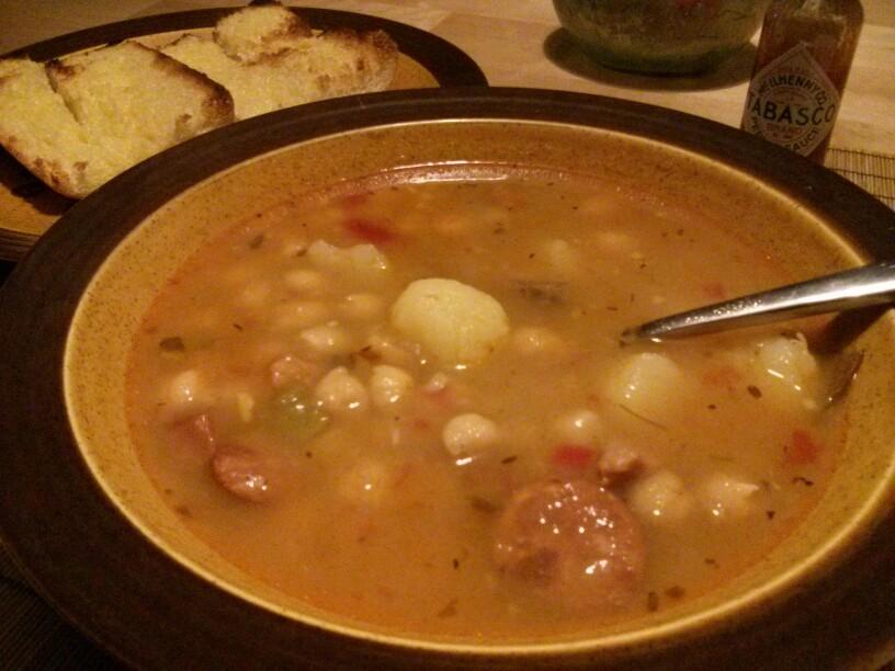 Spanish garbanzo Soup